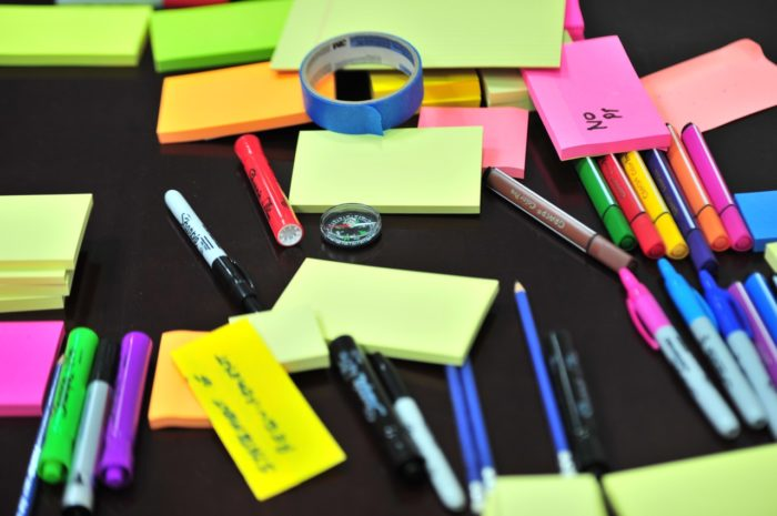 Sharpies, Post-Its and Painter's Tape