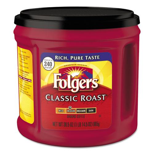 box of Folger's coffee