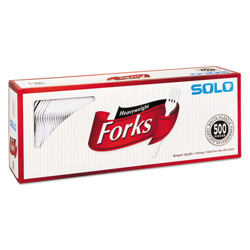 box of solo plastic forks