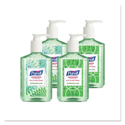 bottles of Purell hand sanitizer