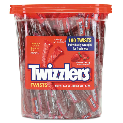 plastic container of Twizzlers